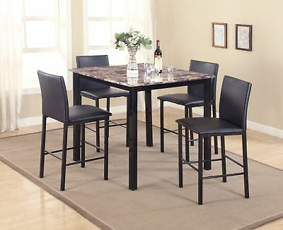 Red Barrel Studio Belmore 5 Piece Counter Height Dining Set With Regard To Hanska Wooden 5 Piece Counter Height Dining Table Sets (Set Of 5) (Image 19 of 25)