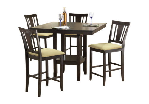 Red Barrel Studio Belmore 5 Piece Counter Height Dining Set Within Hanska Wooden 5 Piece Counter Height Dining Table Sets (Set Of 5) (Image 20 of 25)