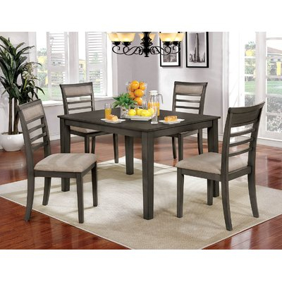 Red Barrel Studio Hanska Wooden 5 Piece Counter Height Dining Table Intended For Hanska Wooden 5 Piece Counter Height Dining Table Sets (Set Of 5) (Image 21 of 25)