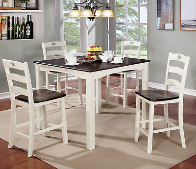 Red Barrel Studio Lightner 5 Piece Counter Height Dining Set Regarding Hanska Wooden 5 Piece Counter Height Dining Table Sets (Set Of 5) (Image 22 of 25)