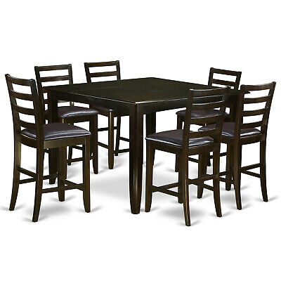 Red Barrel Studio Lightner 5 Piece Counter Height Dining Set Within Hanska Wooden 5 Piece Counter Height Dining Table Sets (Set Of 5) (Image 23 of 25)