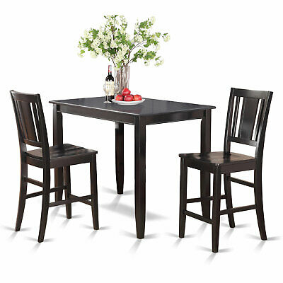 Red Barrel Studio Mazan Wooden 3 Piece Counter Height Dining Set Throughout Bettencourt 3 Piece Counter Height Solid Wood Dining Sets (View 9 of 25)