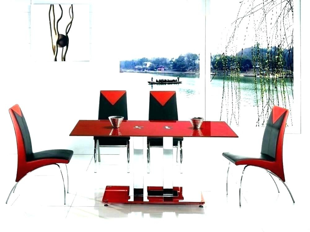 Red Dining Set – Virginiablue (View 20 of 25)