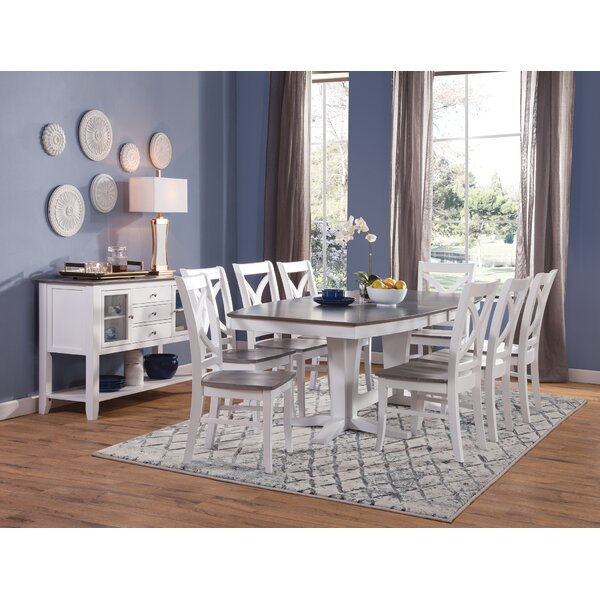Reviews 10 Piece Solid Wood Dining Setsedgewick Industries Today In Travon 5 Piece Dining Sets (View 23 of 25)