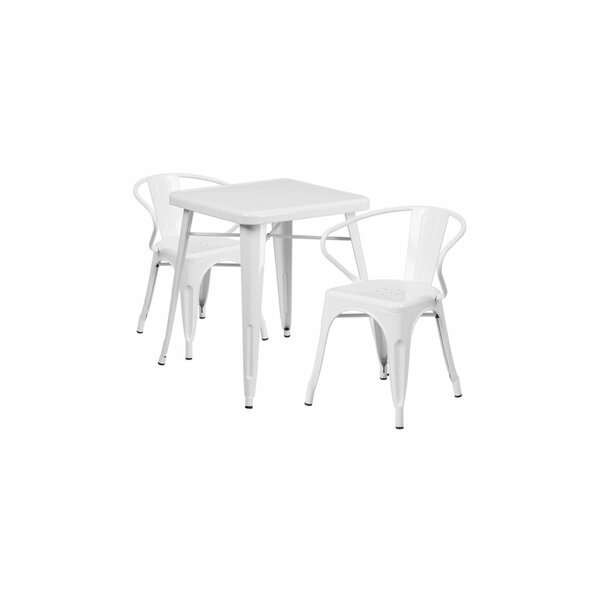 Reviews 3 Piece Dining Setoffex Coupon | Kitchen & Dining Room Sets Intended For Kaya 3 Piece Dining Sets (Image 19 of 25)