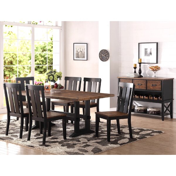 Reviews Pamela 7 Piece Dining Setrosalind Wheeler 2019 Sale Intended For Bearden 3 Piece Dining Sets (View 18 of 25)