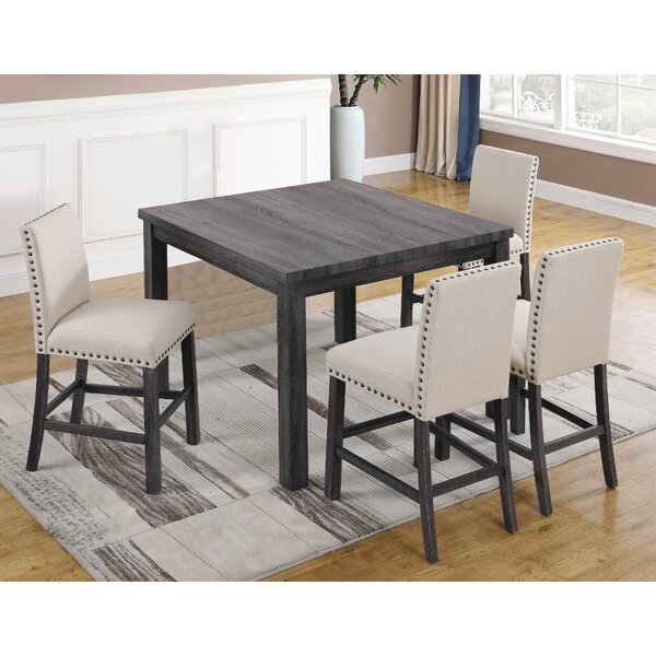 Reviews Ralston 5 Piece Counter Height Dining Setgracie Oaks For Northwoods 3 Piece Dining Sets (View 18 of 25)