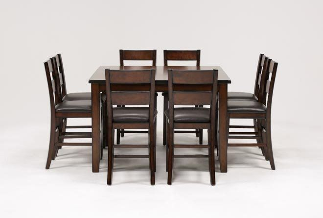 Rocco 9 Piece Extension Counter Set | Kitchen Remodel | Counter In Sundberg 5 Piece Solid Wood Dining Sets (Image 21 of 25)