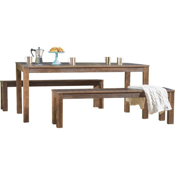 Rockefeller 3 Piece Dining Set In 3 Piece Dining Sets (View 25 of 25)