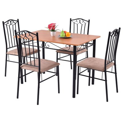 Rossi 5 Piece Dining Set Regarding Rossi 5 Piece Dining Sets (View 6 of 25)