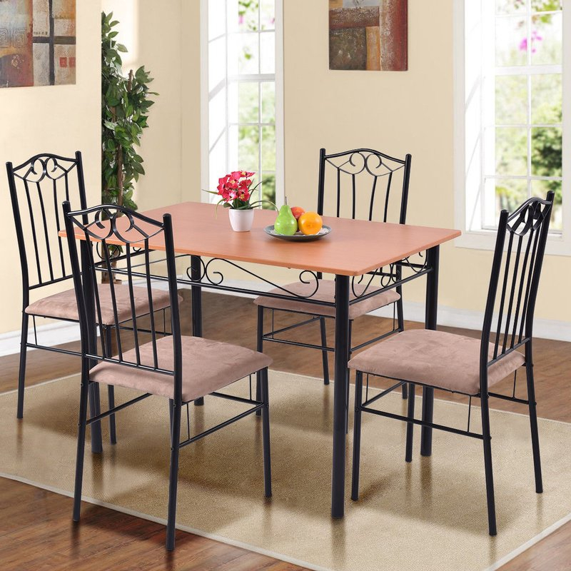 Rossi 5 Piece Dining Set Throughout Rossi 5 Piece Dining Sets (View 3 of 25)