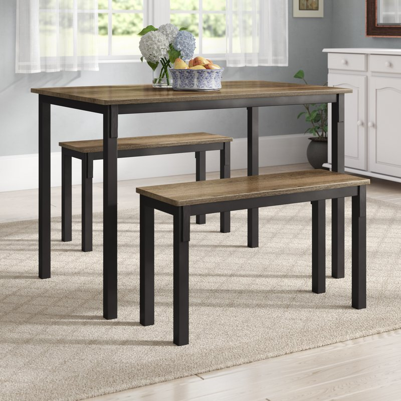 Rossiter 3 Piece Dining Set Throughout Rossiter 3 Piece Dining Sets (Image 18 of 25)