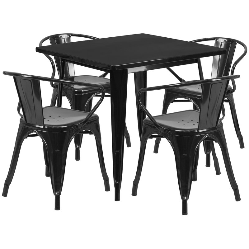 Rossiter 5 Piece Dining Set In Rossiter 3 Piece Dining Sets (Image 22 of 25)