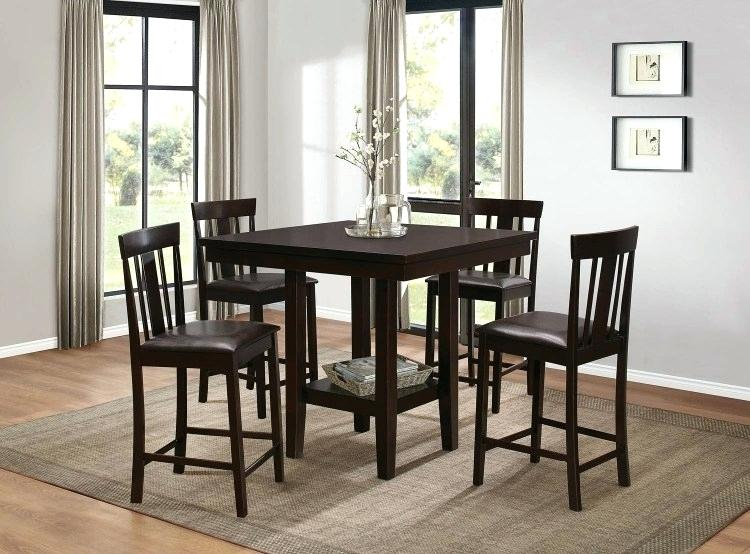 Roundhill 3 Piece Counter Height Dining Set With Saddleback Stools For Winsome 3 Piece Counter Height Dining Sets (View 17 of 25)