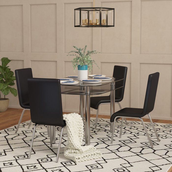 Scalise 5 Piece Dining Set With Regard To Travon 5 Piece Dining Sets (Image 15 of 25)
