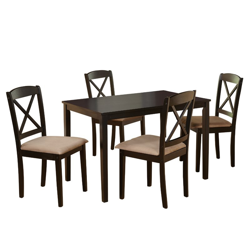 Scarlett 5 Piece Dining Set Intended For Pattonsburg 5 Piece Dining Sets (Image 19 of 25)