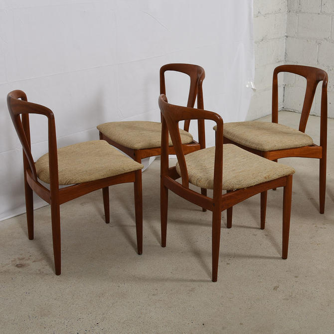 Set Of 4 Johannes Andersen For Uldum Møbelfabrik Juliane Teak Dining Chairs For John 4 Piece Dining Sets (View 22 of 25)