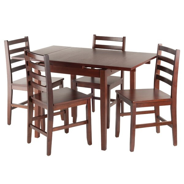 Shaws 5 Piece Extendable Dining Setalcott Hill Herry Up For Weatherholt Dining Tables (Image 11 of 25)