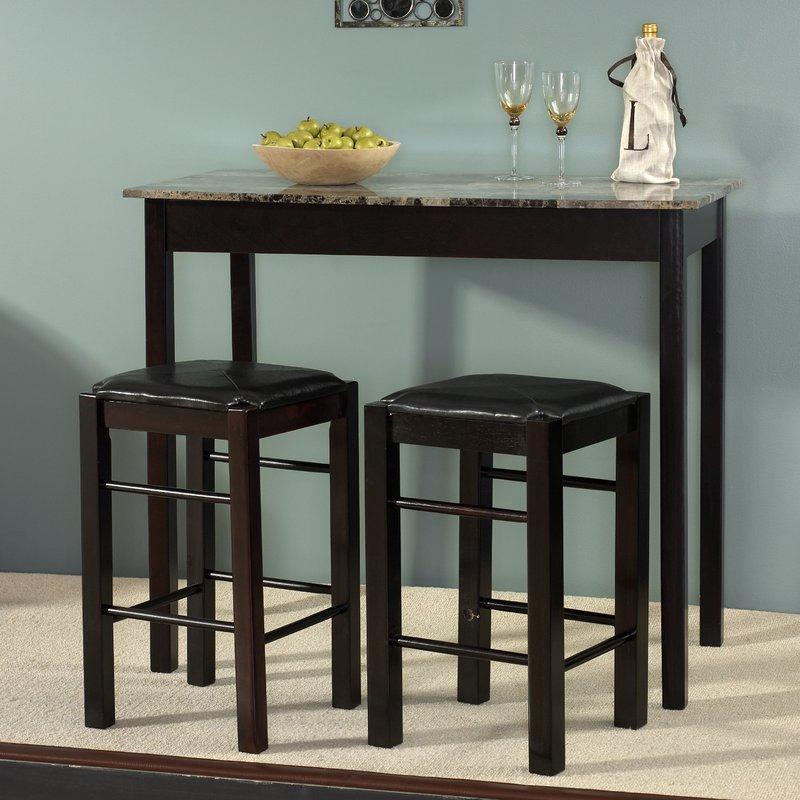 Sheetz 3 Piece Counter Height Dining Set Throughout Tenney 3 Piece Counter Height Dining Sets (Image 23 of 25)