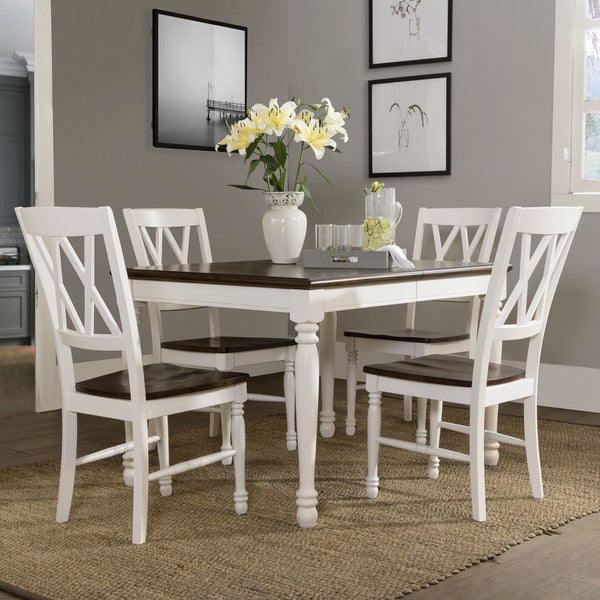 Shelby 5 Piece White Dining Set With Regard To 5 Piece Dining Sets (Image 22 of 25)