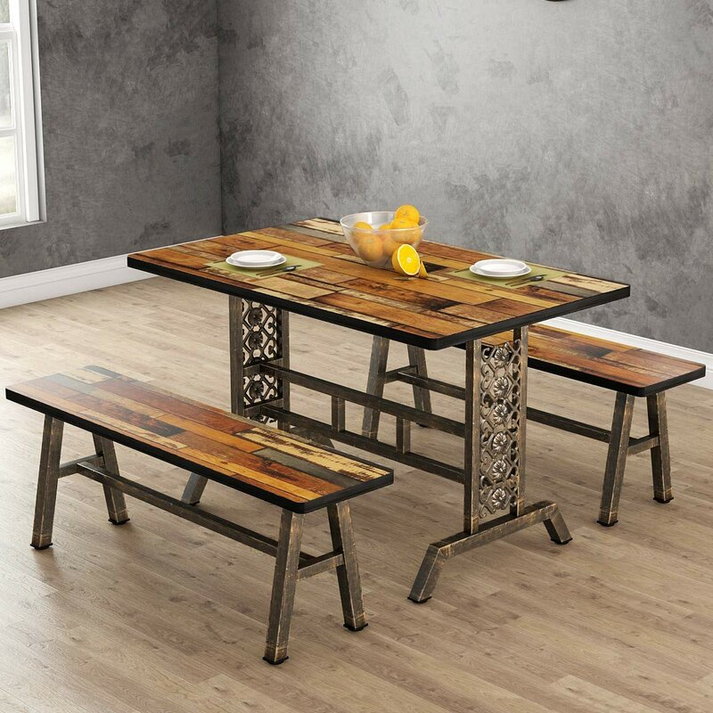Shepparton Vintage 3 Piece Dining Set For Shepparton Vintage 3 Piece Dining Sets (Image 20 of 25)
