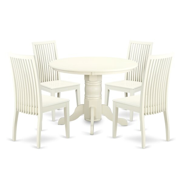 Sherlock 5 Piece Breakfast Nook Solid Wood Dining Setaugust In Lightle 5 Piece Breakfast Nook Dining Sets (View 19 of 25)
