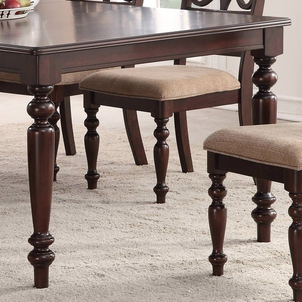 Shop Home Source Laconia Walnut 5 Piece Dining Set – Free Shipping Within Laconia 7 Pieces Solid Wood Dining Sets (Set Of 7) (Image 23 of 25)