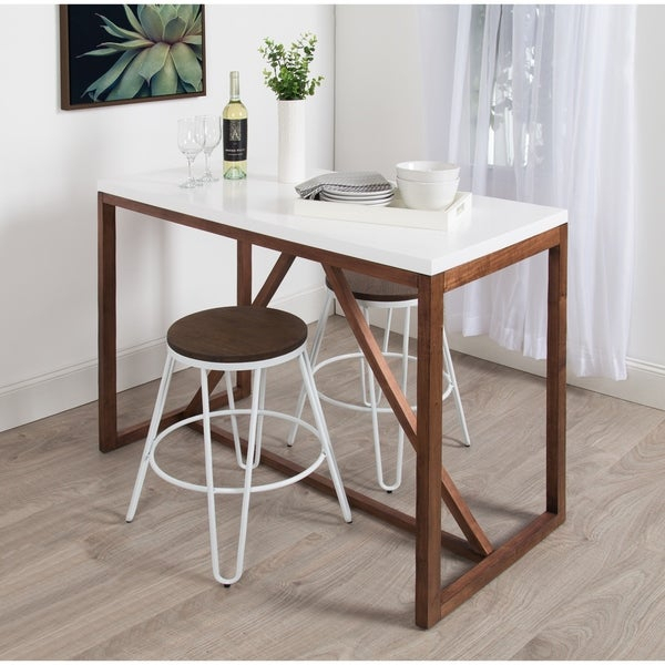 Shop Kate And Laurel Kaya Counter Height Pub Table – 48X24X36 – On Throughout Kaya 3 Piece Dining Sets (Image 20 of 25)
