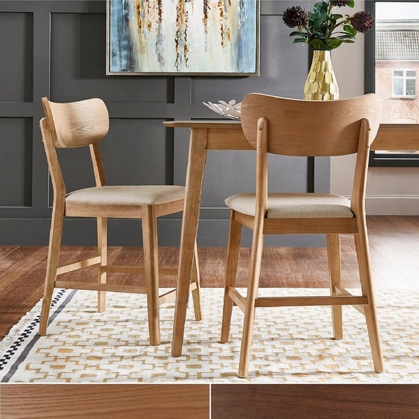 Shop Penelope Danish Modern Tapered Leg Counter Height Chair (Set Of In Penelope 3 Piece Counter Height Wood Dining Sets (Image 21 of 25)