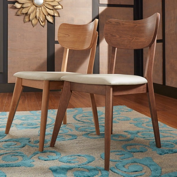 Shop Penelope Danish Modern Tapered Leg Dining Chair (Set Of 2 Inside Penelope 3 Piece Counter Height Wood Dining Sets (Image 22 of 25)