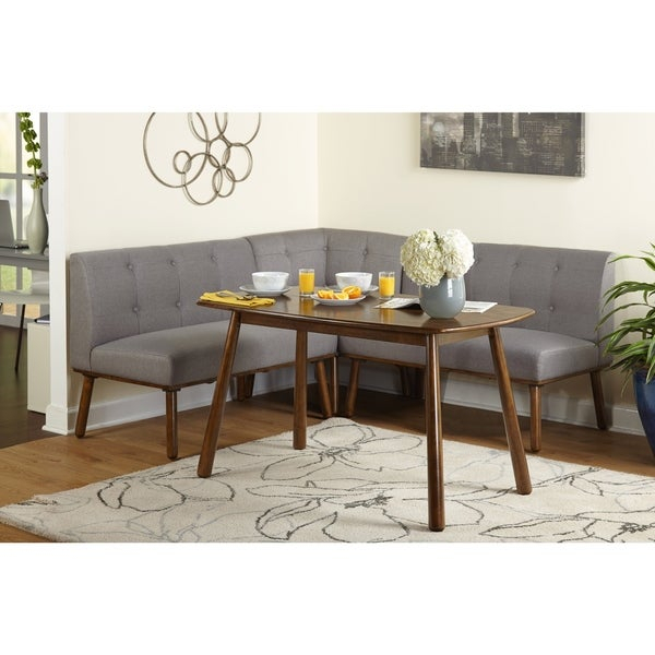 Shop Simple Living 4 Piece Playmate Nook Dining Set – Free Shipping Inside Maloney 3 Piece Breakfast Nook Dining Sets (Image 19 of 25)