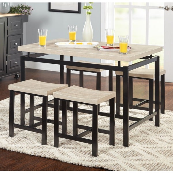 Shop Simple Living Delano Two Tone 5 Piece Dining Set – Free For 5 Piece Dining Sets (View 21 of 25)