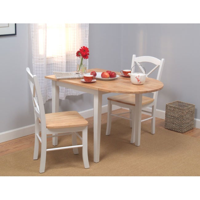 Simple Living Country Cottage Drop Leaf 3 Piece Dining Set Intended For 3 Piece Dining Sets (View 3 of 25)