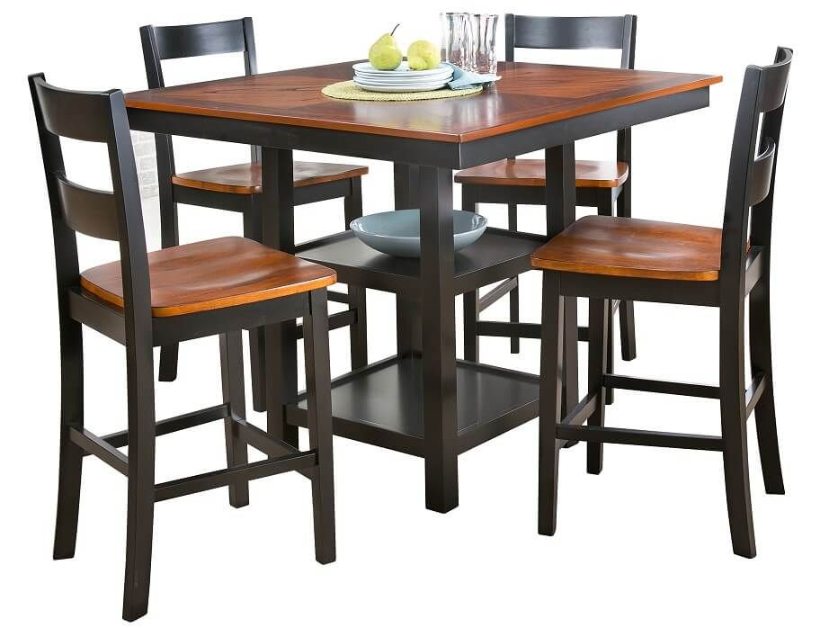 Slumberland | Teller Collection – 5Pc Set | Craft Room | Dining Within Castellanos Modern 5 Piece Counter Height Dining Sets (View 18 of 25)