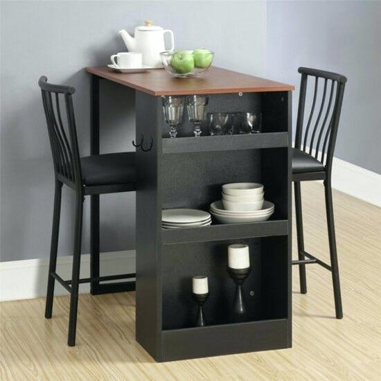Small 3 Piece Dining Set Details About Bistro 3 Piece Dining Set Pertaining To Debby Small Space 3 Piece Dining Sets (Image 17 of 25)