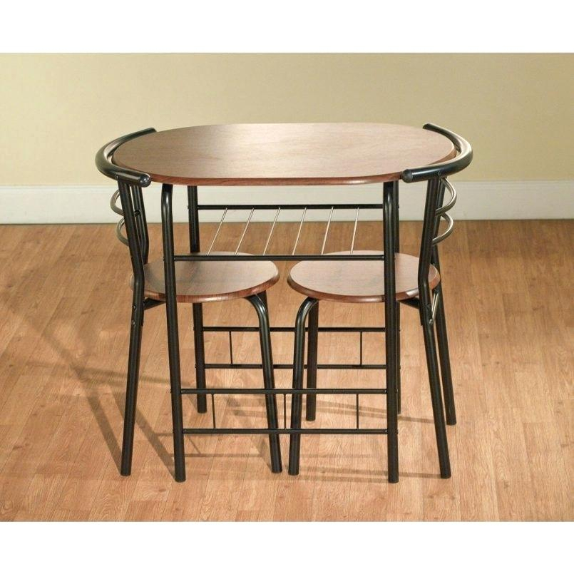 Small 3 Piece Dining Set – Elitetoken (View 14 of 25)