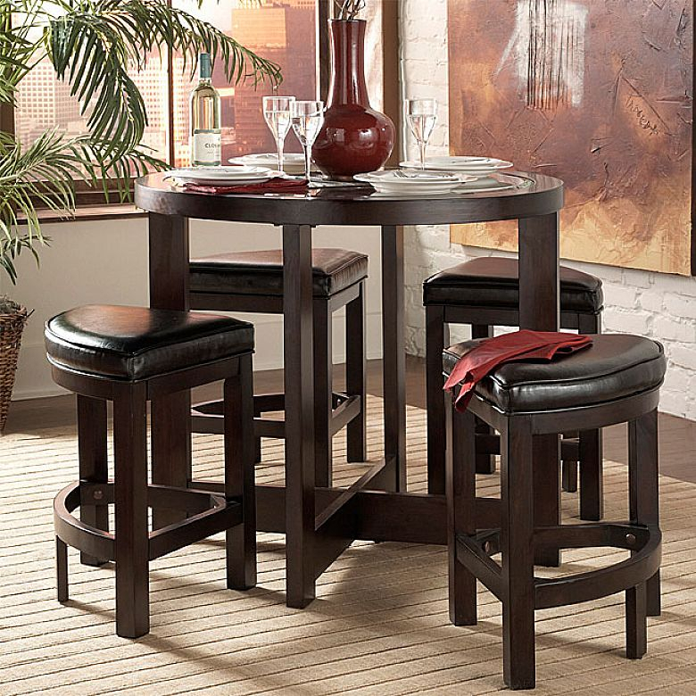 Small Kitchen Table Set & Balboa Counter Height Table U0026 Stool 3 With Kieffer 5 Piece Dining Sets (View 17 of 25)