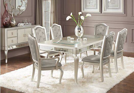 Sofia Vergara Paris Silver 5 Pc Dining Room In 2019 | Dining Room With Lamotte 5 Piece Dining Sets (View 19 of 25)