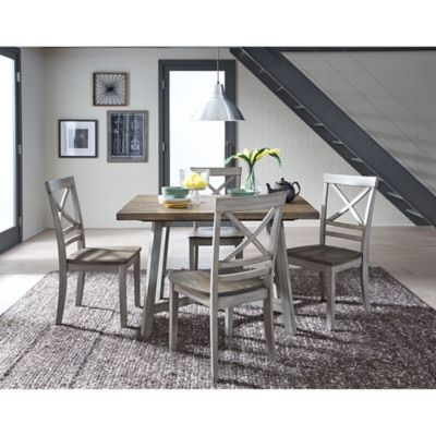 Standard Furniture Fairhaven 5 Piece Dining Set In Rustic Grey With Regard To Tavarez 5 Piece Dining Sets (View 6 of 25)