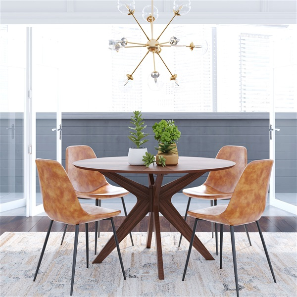 Starburst Round Dining Table Within Anette 3 Piece Counter Height Dining Sets (Image 21 of 25)