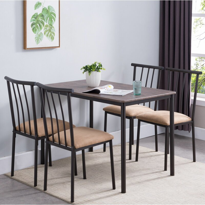 Stclair 5 Piece Dining Set Throughout Pattonsburg 5 Piece Dining Sets (Image 20 of 25)