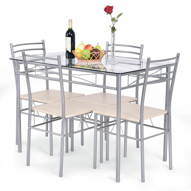Stouferberg 5 Piece Dining Set Throughout Stouferberg 5 Piece Dining Sets (View 2 of 25)