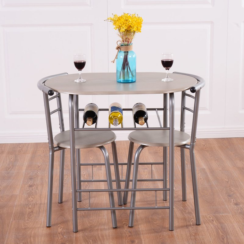 Strock 3 Piece Dining Set For Honoria 3 Piece Dining Sets (Image 21 of 25)