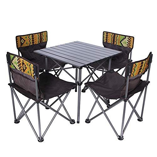 Sturdy Camouflage Folding Table And Chair Five Piece Suit Aluminum With Regard To Ganya 5 Piece Dining Sets (View 15 of 25)