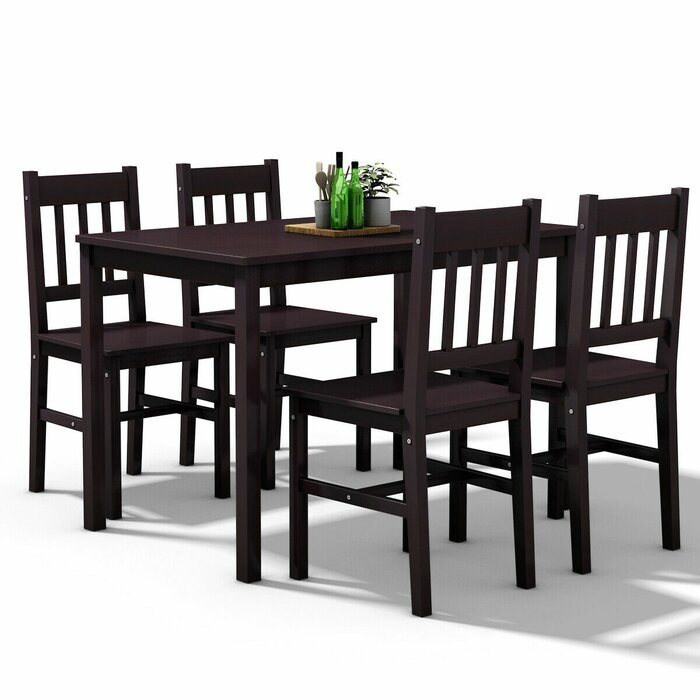 Sundberg 5 Piece Solid Wood Dining Set Pertaining To Sundberg 5 Piece Solid Wood Dining Sets (Image 25 of 25)
