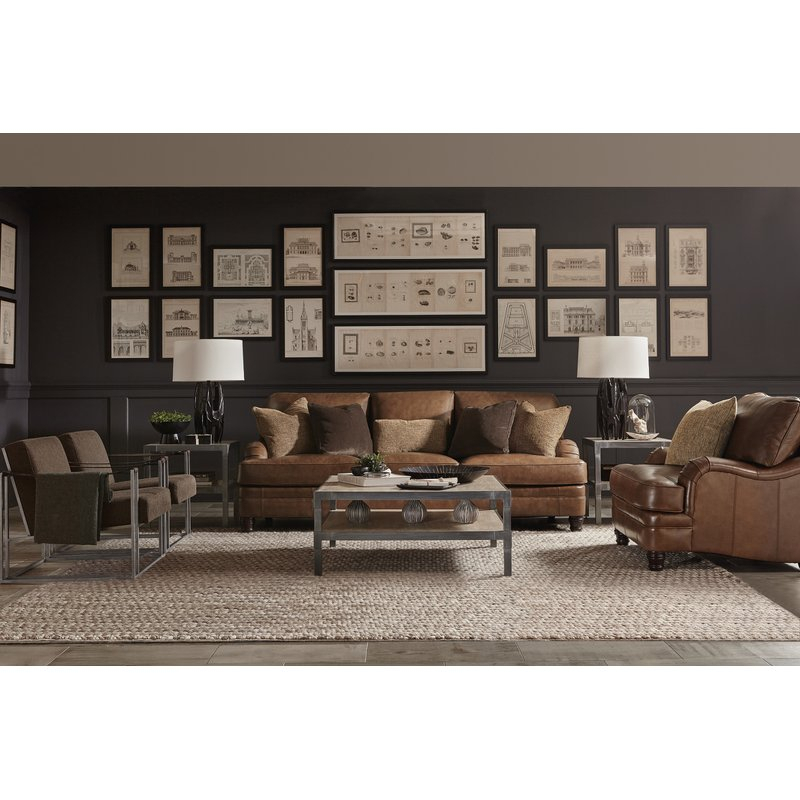 Tarleton Leather Sofa Inside Tarleton 5 Piece Dining Sets (View 6 of 25)