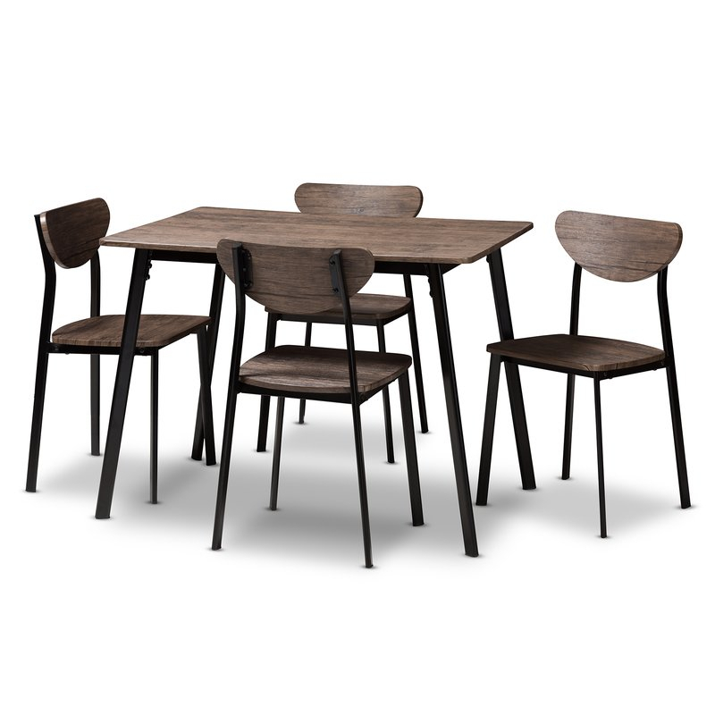 Tejeda 5 Piece Dining Set Pertaining To Telauges 5 Piece Dining Sets (View 4 of 25)