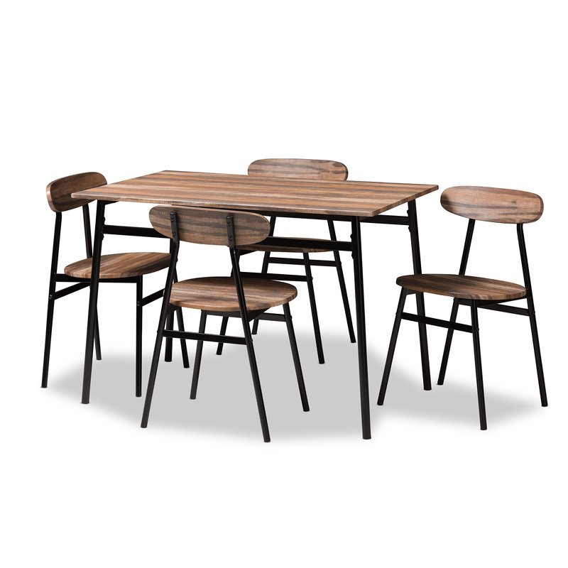 Telauges 5 Piece Dining Set With Regard To Tejeda 5 Piece Dining Sets (View 3 of 25)