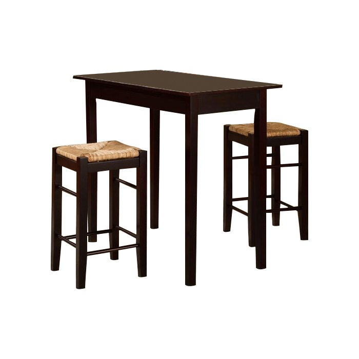 Tenney 3 Piece Counter Height Dining Set For Kernville 3 Piece Counter Height Dining Sets (Image 22 of 25)