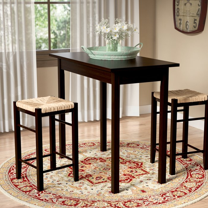 Tenney 3 Piece Counter Height Dining Set For Kernville 3 Piece Counter Height Dining Sets (Image 21 of 25)